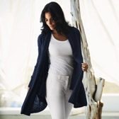 Buy Sparkle Pocket Cardigan - Navy from The White Company