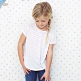 Buy Striped A-line T-shirt from The White Company