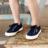 Buy Superga Plimsolls - Navy from The White Company