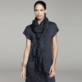 Buy Crinkle Stripe Woven Scarf - Midnight from The White Company