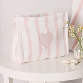 Stripe Washbag - Pink