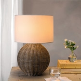 Buy Zanzibar Rattan Table Lamp from The White Company