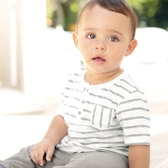 Buy Baby Textured Stripe T-Shirt from The White Company