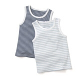 Buy Striped Jersey Vests -2-Pack from The White Company