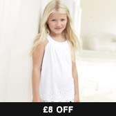 Buy White Broderie Top from The White Company