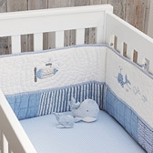 Buy Whales Cot Bumper from The White Company