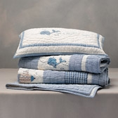 Buy Whales Cot Bed Quilt from The White Company