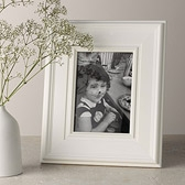 Buy Wide Wooden Photo Frame 5x7 - White from The White Company