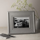 Buy Wide Wooden Photo Frame 5x7 - Grey from The White Company