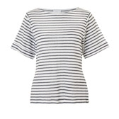 Buy Wide Sleeve Striped Linen Top - White/Blue from The White Company