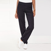 Straight Leg Jersey Trousers - Black