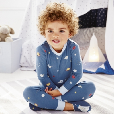 Space Print Pajamas Snug Fit