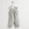 Sparkled Smocked Dungarees