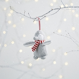 Knitted Snowy Penguin Decoration