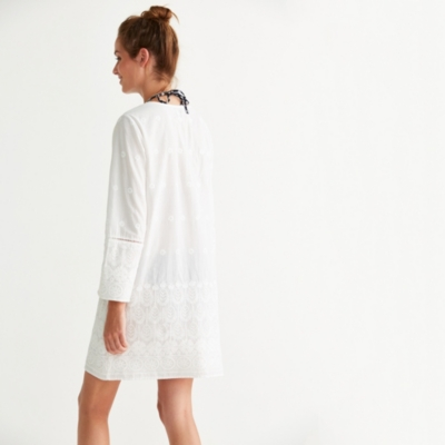 Sequin Embroidered Beach Cover Up