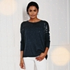 Rectangular Sequin Sweater