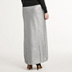 Sequin Maxi Skirt - Silver