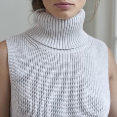Sleeveless Chunky Roll Neck Sweater