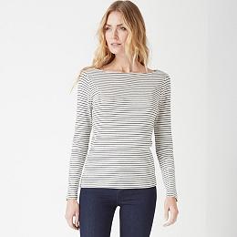 Fine Stripe Layering Top