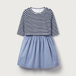 Stripe Chambray Dress (1-6yrs)