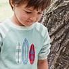 Surfboard Motif Sweater