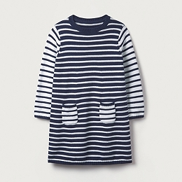 Stripe Knitted Dress (1-6yrs)