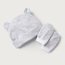 Stripe Hat & Mittens Set