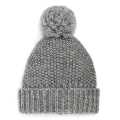 Seed Stitch Bobble Hat