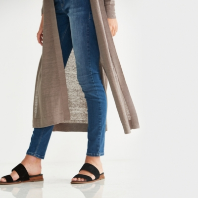 Linen Blend Side Split Cardigan