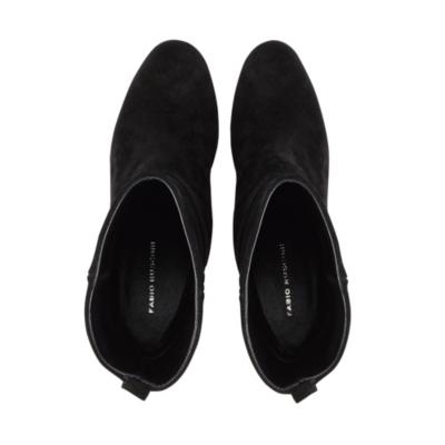 Suede Heel Slouchy Boots