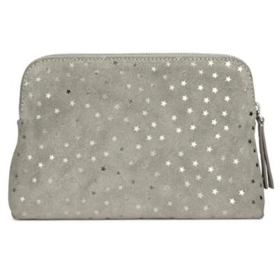 Star Suede Make Up Bag