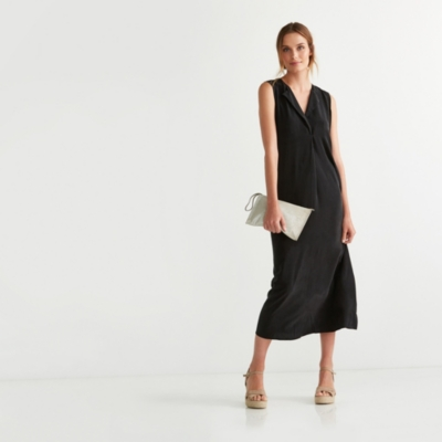 Sleeveless Silk Midi Dress