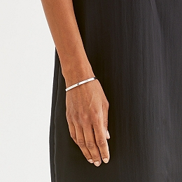 Sterling Silver Notch Bangle