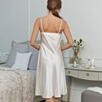 Short Silk Nightdress - Porcelain