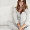 Skinny Stripe Pajama Bottoms