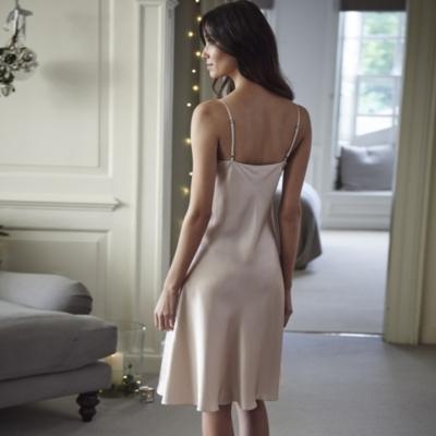 Short Silk Night Gown - Soft Rose