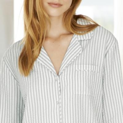 Seersucker Stripe Pajama Shirt
