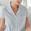 Short Sleeve Striped Pyjama Shirt
