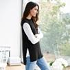 Side Split Sleeveless Sweater