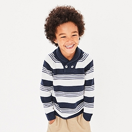 Stripe Shawl Jumper (1-6yrs)