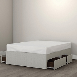 Beds metal wooden upholstered the white company uk for White double divan