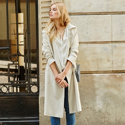 Soft Trench Coat | Coats & Jackets | Clothing | The White Company UK