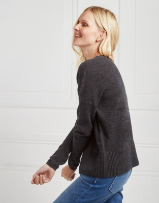 Merino Wool Stitch Detail Sweater