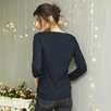 Sparkle Trim Henley Sweater