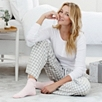 Stripe Cashmere Bed Socks