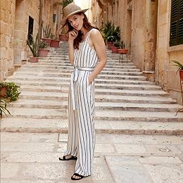 Wide Stripe Jumpsuit