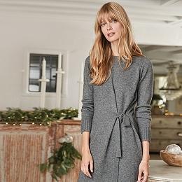 Wool Side Tie Knitted Dress