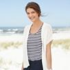 Stripe Linen Jersey Vest