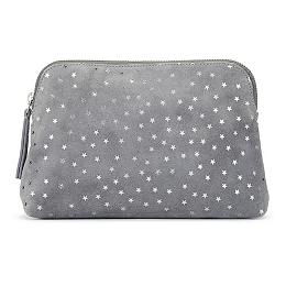 Suede Star Make Up Bag