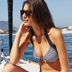 Stripe Mix Bikini Top